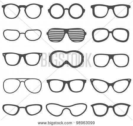 Glasses set.Vector