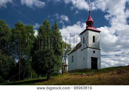 A small Catholic church.