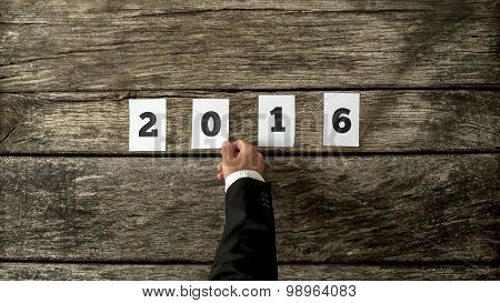 Businessman Wishing You Happy New Year For 2016