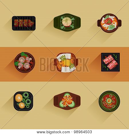 Food Illustration Korean food Vector icon