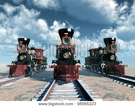 Old American Steam Locomotives