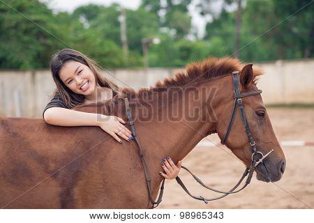 Embracing Horse