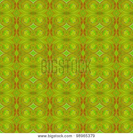Seamless spiral pattern green red