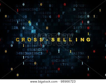 Business concept: Cross-Selling on Digital background