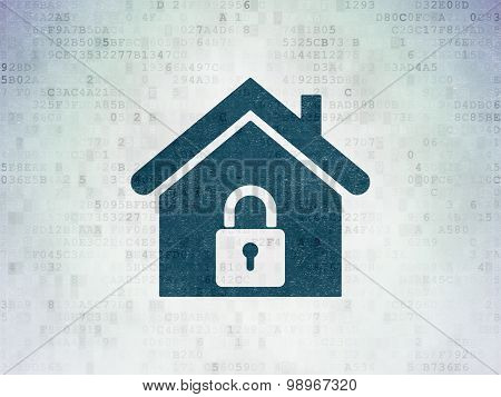 Business concept: Home on Digital Paper background