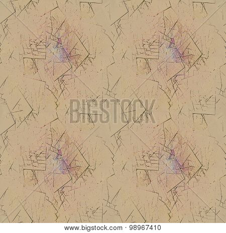 Seamless pattern abstract broken fragments light brown