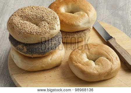 Fresh variety of New York bagels