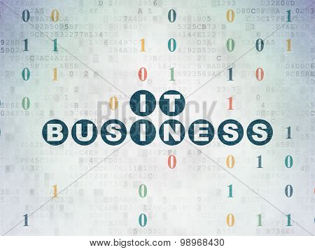 Business concept: IT Business on Digital Paper background