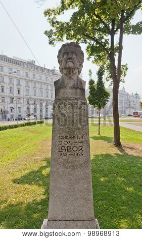 Bust Of Josef Labor In Vienna, Austria