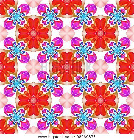 Beautiful Symmetrical Pattern Of The Flower Petals In Fractal Design.