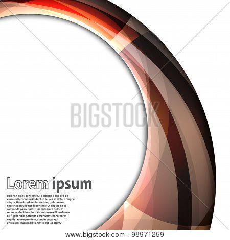 Abstract Swirl Energy Brown Circle