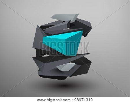 3D Prism Font - C