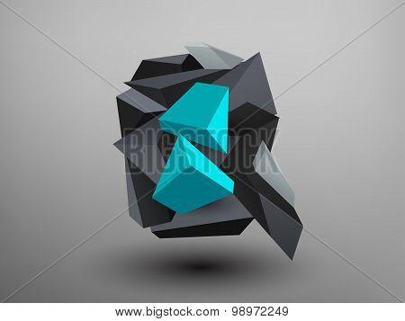 3D Prism Font - Q