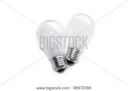 Incandescent light bulb  isolate on white background