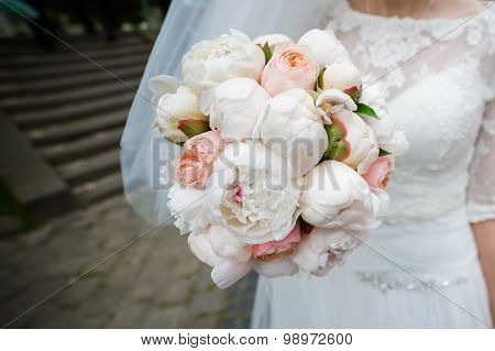 Big wedding bouquet