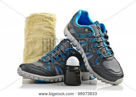 A pair of sport shoes isolated