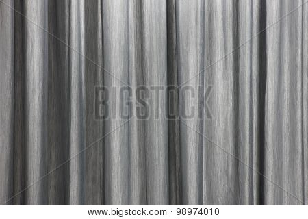Curtain Background Detail With Waves In Black And White