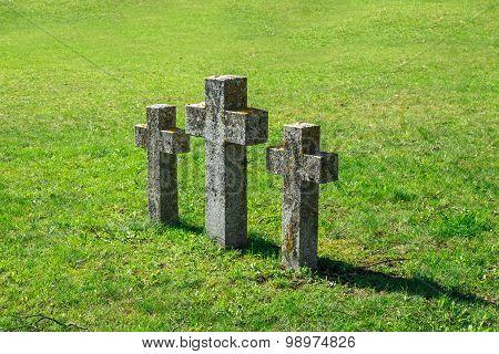 Stone Cross Sign