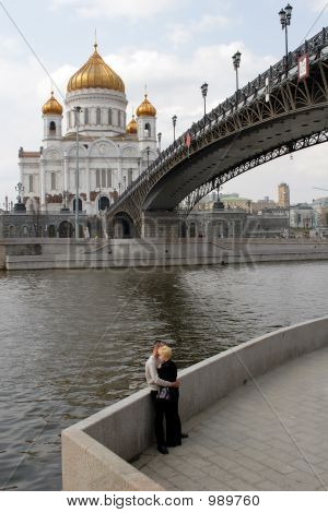 Moscow, Russia,  A Kind On The Temple Of The Christ Of The Savior