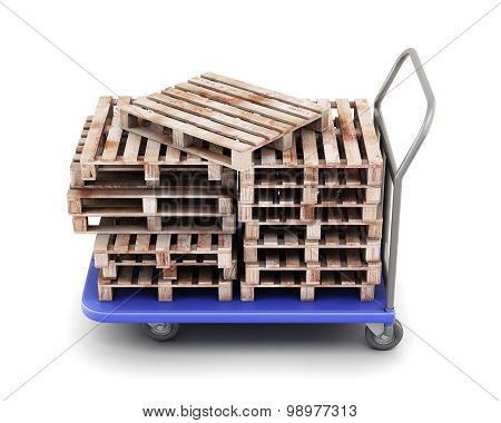 Trolley For Transportation Of Goods With Pallets