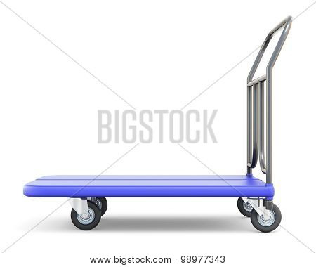 Baggage Trolley Side View