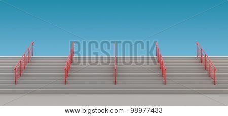 Staircase With Handrails To Nowhere