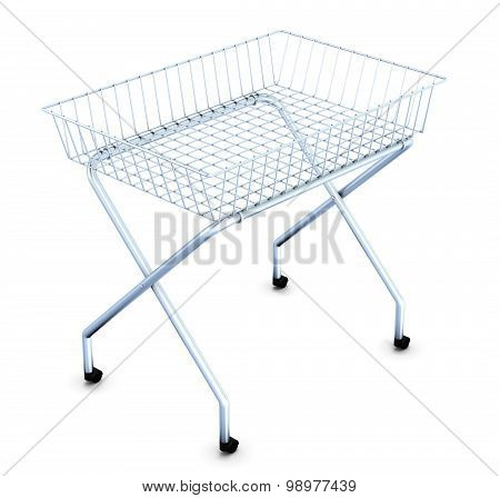 Shopping Cart On Wheels Supermarket