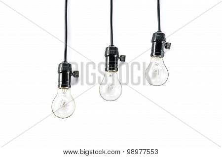 Light Bulb With Plug And  Lamp Holder, Cable Tungsten Three