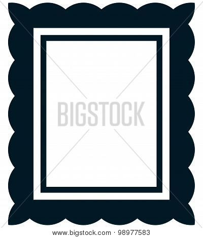 Vector Simple Vintage Picture Frame Isolated