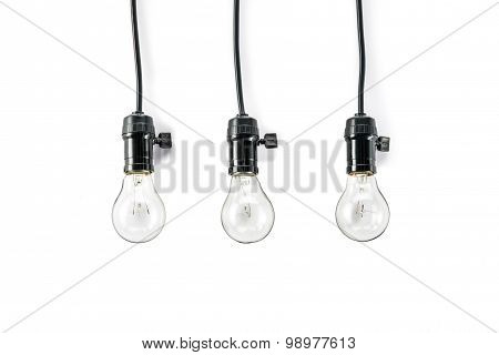 Light Bulb With  And  Lamp Holder, Cable Tungsten Three