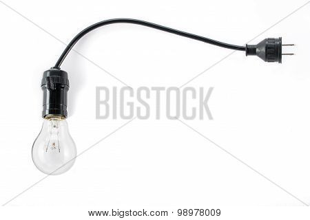 Light Bulb With Plug And  Lamp Holder, Cable Tungsten