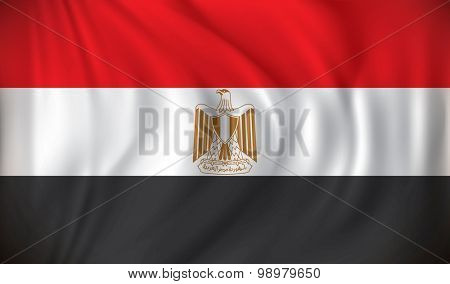 Flag of Egypt - vector illustration