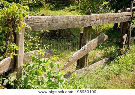 Detail Of A Wooden Palisade