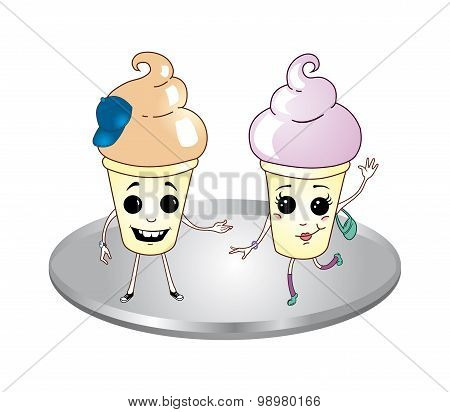Cute Cups With Dessert