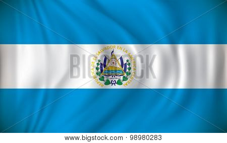 Flag of El Salvador - vector illustration