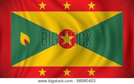 Flag of Grenada - vector illustration