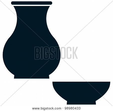 Vector Ceramic Crockery Simple Illustration Isolated