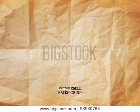 vector texture (element for design) - crumpled paper