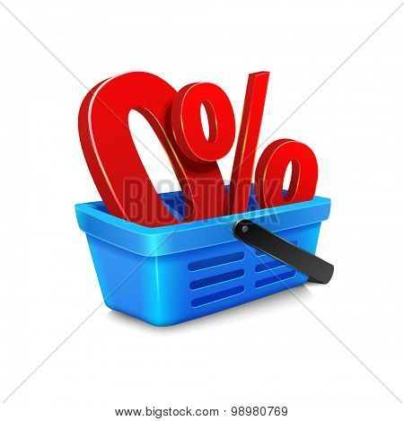 vector shopping cart with a