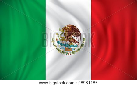 Flag of Mexico - vector illustration