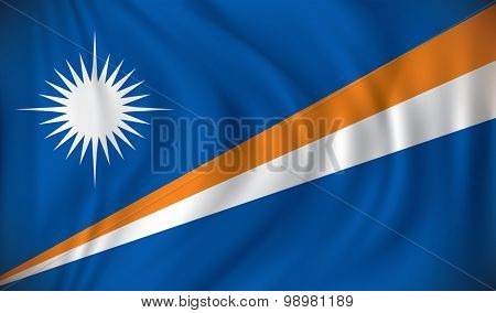 Flag of Marshall Islands - vector illustration