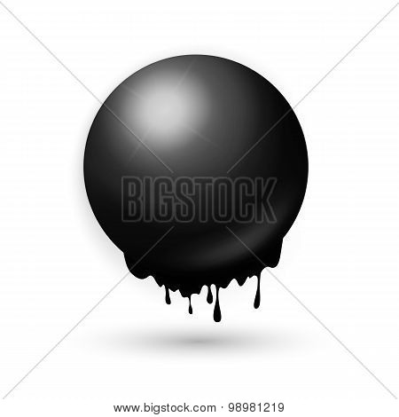 Melting Black Sphere Concept