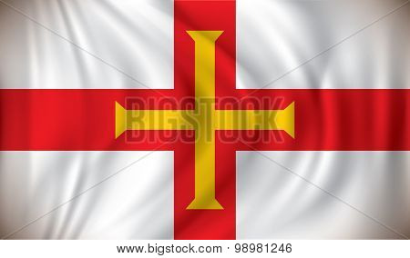 Flag of Guernsey - vector illustration