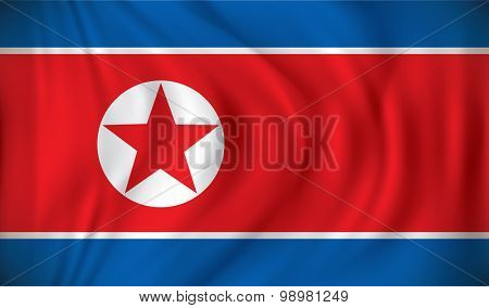 Flag of North Korea - vector illustration