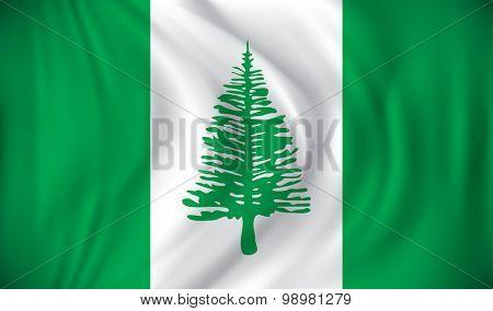 Flag of Norfolk Island - vector illustration