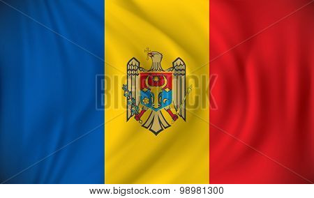 Flag of Moldova - vector illustration