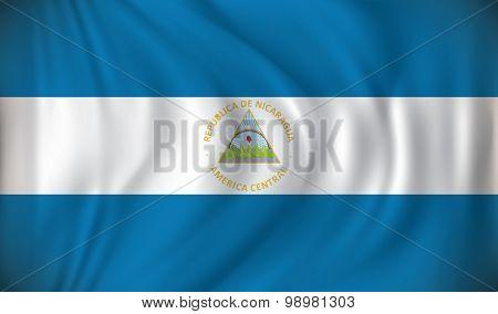 Flag of Nicaragua - vector illustration