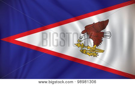 Flag of American Samoa - vector illustration