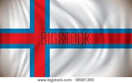 Flag of Faroe Islands - vector illustration
