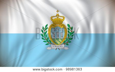 Flag of San Marino - vector illustration